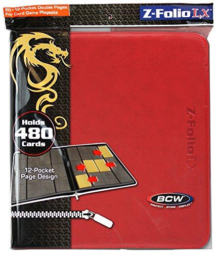 12-Pocket Z-Folio LX Trading Card Albums, (Album Flat)
