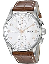 Jazzmaster Maestro White Dial Leather Strap Mens Watch H32576515