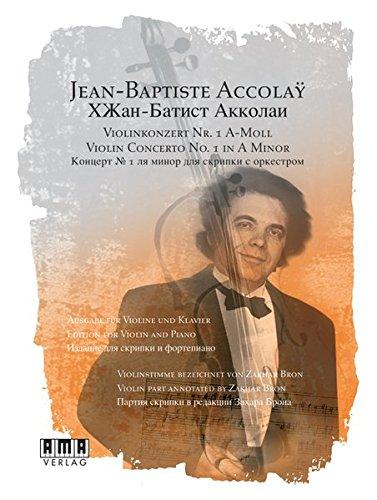 Violinkonzert Nr. 1 A-Moll: Ausgabe für Violine und Klavier. Violinstimme bezeichnet von Zakhar Bron