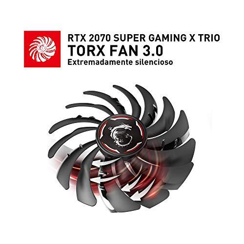 Msi Geforce Rtx 2070 Super Gaming X Trio Tarjeta Grafica 8 Gb Gddr6 256 Bit 7680 X 4320 Pixeles Pci Express X16 30