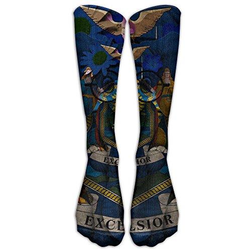 Albany Ny Costumes (New York State Flag NY Elephant Compression Socks Tube Socks Athletic Socks Performance Socks Knee Socks Crew Socks)