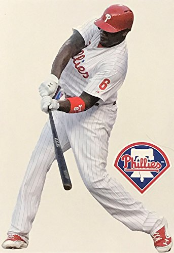 Ryan Howard Mini FATHEAD + Philadelphia Phillies Logo Official MLB Vinyl Wall Graphics 7