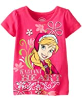 Disney Girls' Frozen Radiant Heart Short-Sleeve Shirt