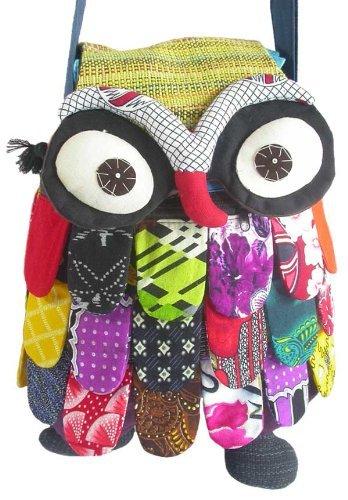 Thai Handmade Adorable Patchwork Owl Sling&shoulder Bag for Girl 3
