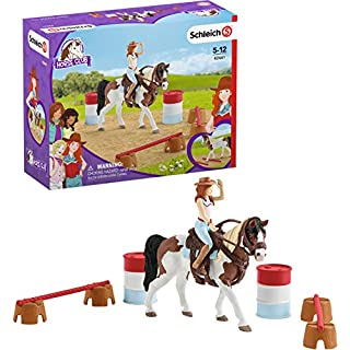 Schleich Horse Club Horse Club Hannah's Western Riding Set 12-piece Educational Playset for Kids Ages 5-12