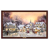 Thomas Kinkade Lighted Canvas Print from Bradford Exchange: Village Christmas by The Bradford Exchange
