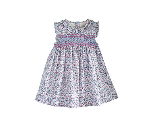 Day Dress with Smocking and Embroidering in Riviera Floral (6 Months) Red
