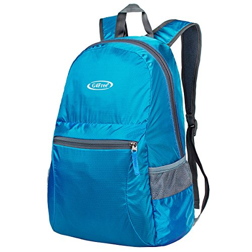 G4Free Ultra Lightweight Packable Backpack Hiking Daypack ,Handy Foldable Camping Outdoor Backpack(Blue)