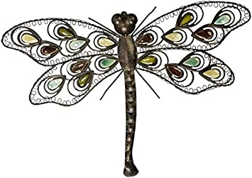 mica living wanddeko libelle aus metall 58 x 4 x 41 cm amazon de spielzeug