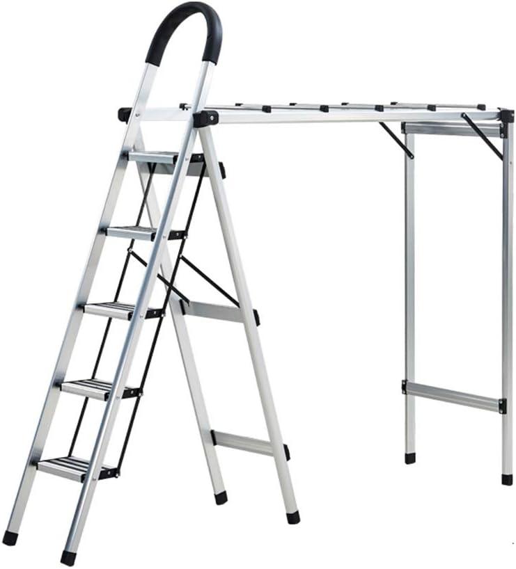 C-J-Xin Escalera multiusos, Escalera metálica de tres pasos Rack ...
