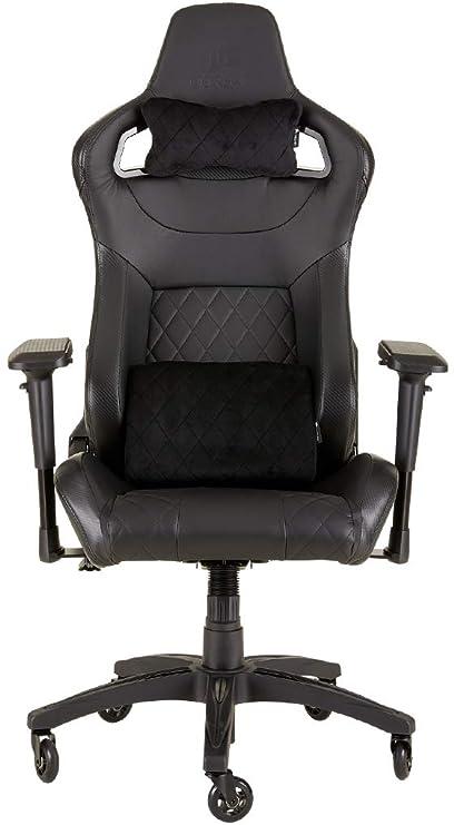 Corsair T1 Race Silla de Oficina, para Videojuegos, Polipiel, fácil de ensamblar, giratoria ergonómica, Altura Ajustable y reposabrazos 4D, Asiento ...