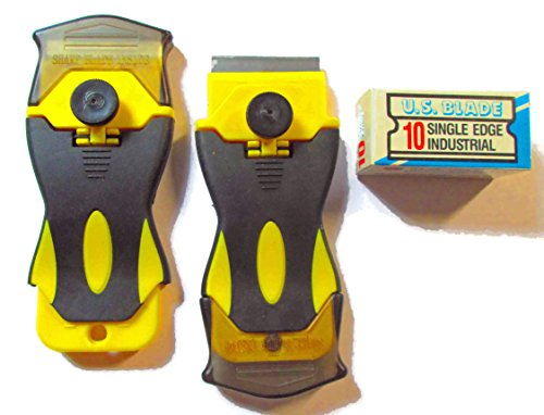 Pro Razor Scraper 2PK with 10 U.S. Single Edge Metal Blades