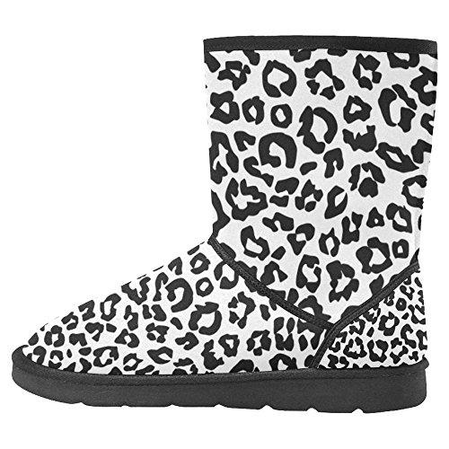 Scarponi Da Neve Womens Interestprint Design Unico Comfort Invernale Stivali Leopard Pattern Texture Multi 1