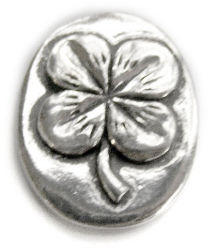Basic Spirit 4 Leaf Clover / Good Luck Pocket Token (Coin) * Handcrafted Pewter Home Lead-Free CN-32 - Good Luck Token
