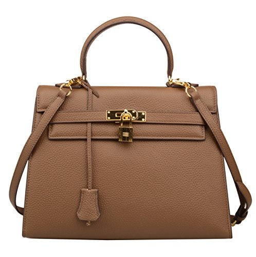 Hobo Women's Shoulder Khaki 32cm Bag Handbags Purse Ainifeel Padlock Satchel 0qBPBZ
