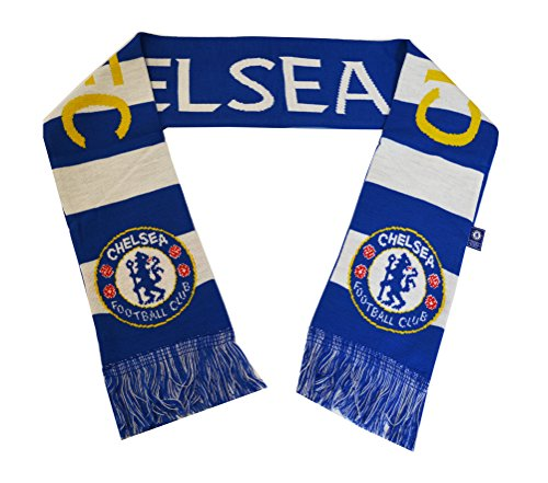 Chelsea Fc Woven Bar Scarf Soccer (Blue - Chelsea Scarf