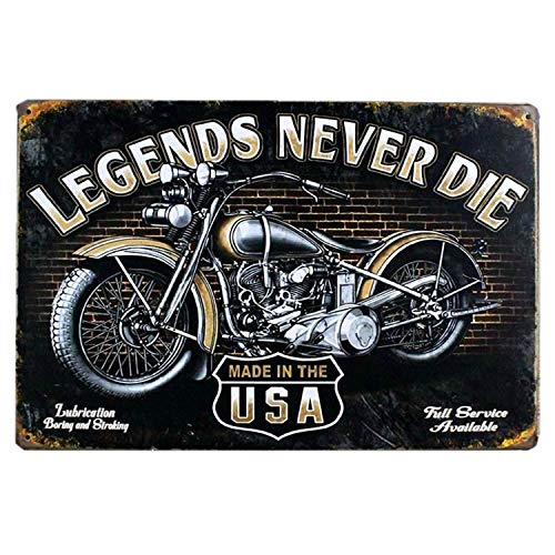 Jewh Plaque Car Theme Vintage Metal Tin Signs Motorcycle Wall Poster Decals - Plate Painting Bar Club Pub Home Decor Wall (20x30cm) -