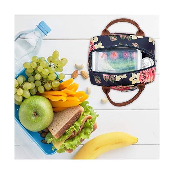 Borsa termica LOKASS per il pranzo al sacco, con rivestimento isolante a prova di perdite.Leggera per donne, ideale per… 5 spesavip