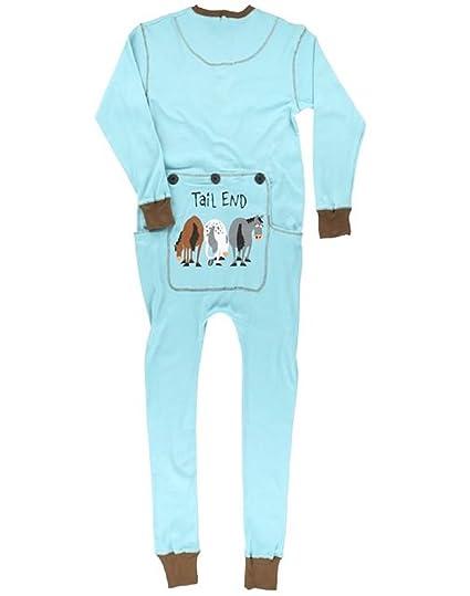 Lazy One Flapjacks Adult Pajamas (Blue Tail End, XS)