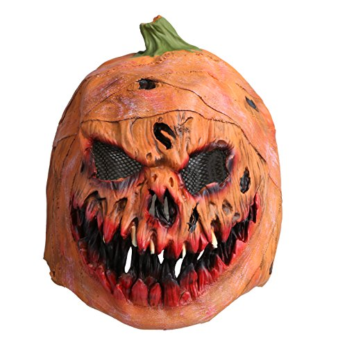 Pumpkin Head Mask, Latex Scarlet Scary Mask with