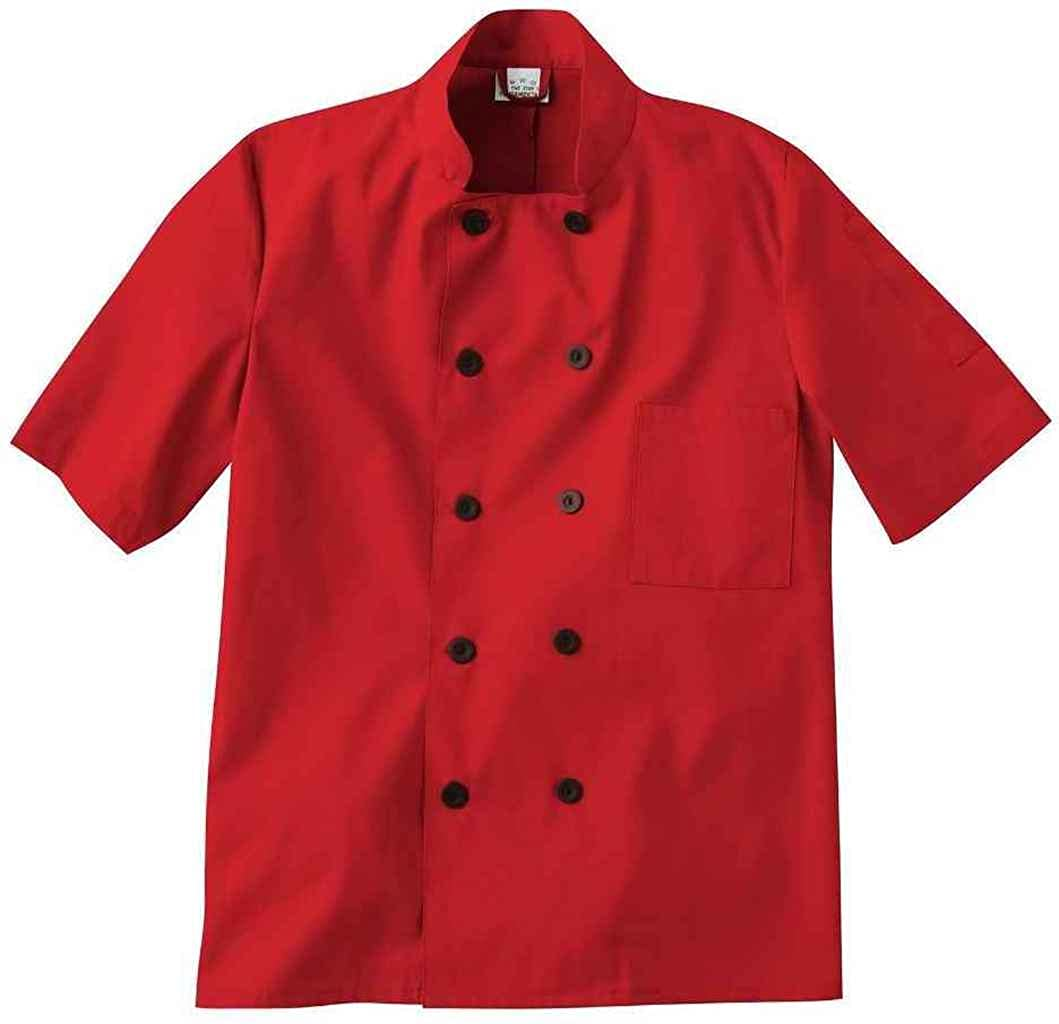Five Star Chef Apparel Unisex Short Sleeve Chef Jacket (Assorted) 18025-016-M