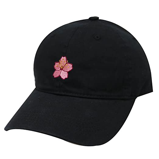 bf7a8ec880a City Hunter C104 Cherry Blossom Cotton Baseball Cap 19 Colors (Black ...
