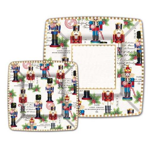Michel Design Works Nutcracker Sweet Paper Plates, Small, 8 Count Crescent Fine China