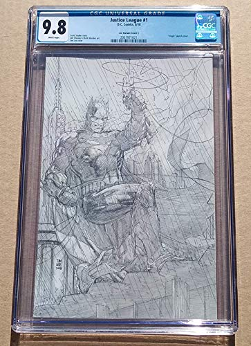 JUSTICE LEAGUE #1 Jim Lee Pencils 1:500 Variant High Grade! CGC 9.8 NEAR MINT/MINT Modern Age Collectible Comic Book!