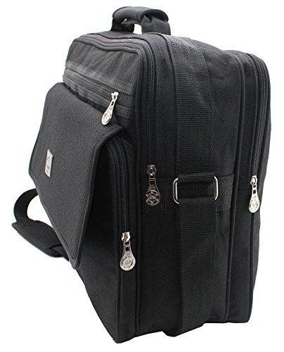 Titan, Citybag XL Borsa Lavoro, uomini 's borsa, borsa a tracolla, borsa a tracolla, Nero, orizzontale