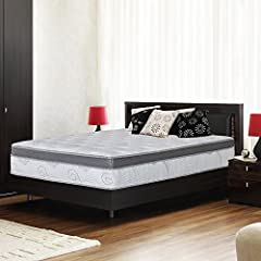 Olee Sleep 13 inch galaxy euro box mattress is designed to satisfy the need for contoured support of your vertebrae while you sleep. We owe this luxury to the tempered steel independently-encased coils whose particularity is to conform to the...