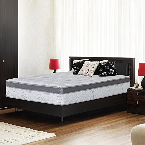 Olee Sleep 13 inch Galaxy Hybrid Gel Infused Memory Foam and Pocket Spring Mattress (King) (Best Innerspring Mattress For Heavy People)