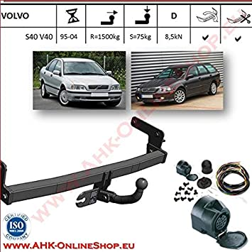 Tow Bar for Volvo S40 Saloon 2004 to 2012 model Volvo Tow Hitch with Wiring Kit