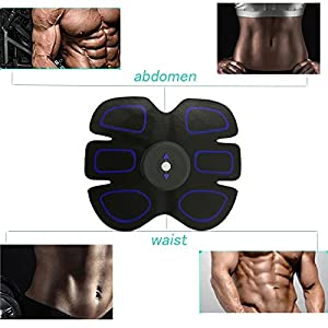 SilaiteWP Abdominal Trainer Muscle Toner Toning Belts Ab Trainer Waist Trainer Waist Trimmer Belt EMS Training Equipment,Smart Home Fitness Apparatus Unisex Support For Men & Women