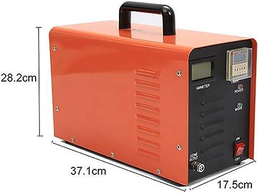 Isunking Medidor de Generador de Ozono de 220V Esterilizador de Purificador de Aire y Agua 10g/h Eliminar el Formaldehído/Tratamiento de Aguas Residuales/Desinfección ...