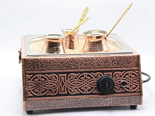Turkish Sand Coffee, Copper Sand Brewer Machine, Turkish Coffee Machine, Coffee on Sand, Copper Pot, Turkish Coffee Pot, Restaurant Hotel Coffee Shops, Third Wave Coffee