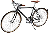 Retrospec Bicycles Kinney 14-Speed Vintage Hybrid Diamond Flat-Bar Frame Bicycle, Black, 50cm/Small For Sale
