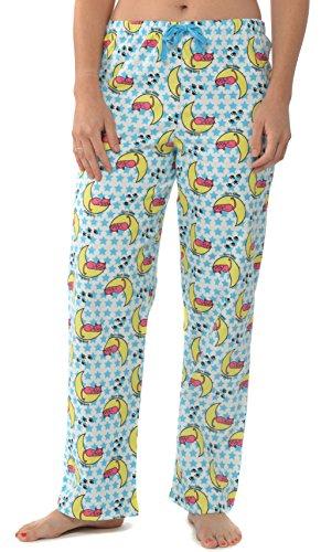Leisureland Women's Pure Cotton Flannel Pajama Sleep Lounge Pants Sleepy Kitty Cat (Kitty Cat Pant)