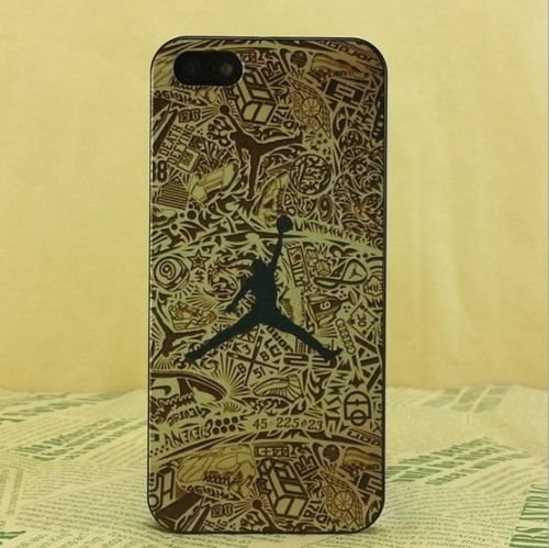 NEW AIR JORDAN BLACK LOGO JUMP SOFT PC CASE FOR APPLE IPHONE 5/5S J7