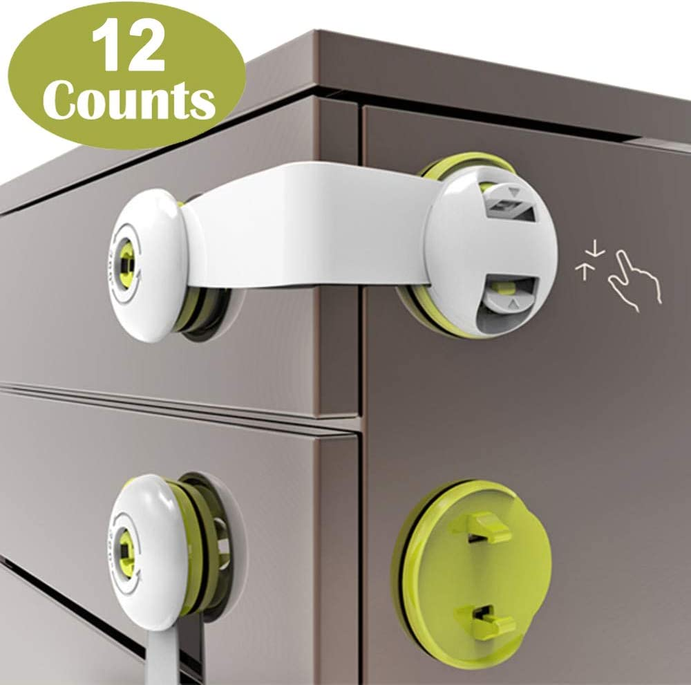Cabinet Locks Child Safety, No Drill Child Proof Lock ...