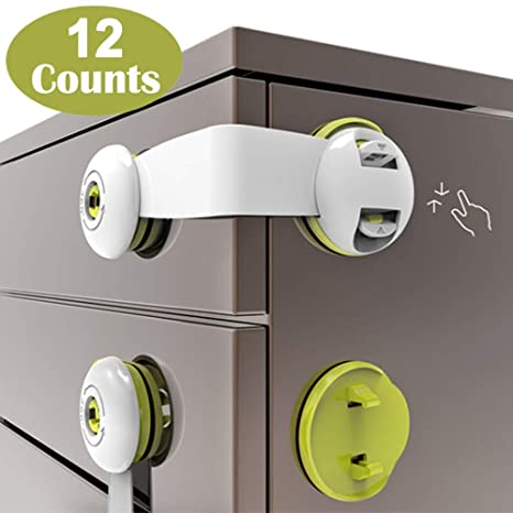 Child Safety Lock Drawer Cupboard Clip Safety Baby Child Proof Lock With Screws