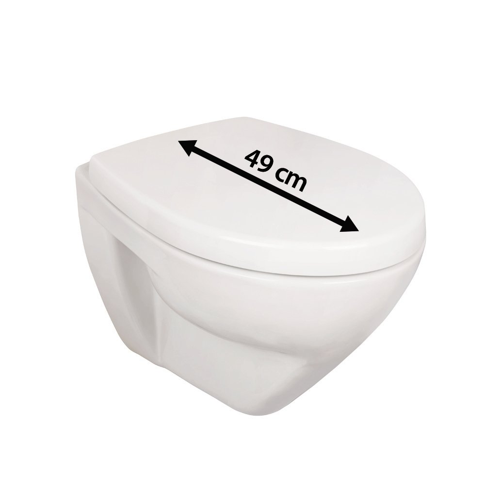 Wall-Mounted Toilet Set | Toilet Design Style White | Includes Toilet Seat with Soft Close Automatic Closure, 57213 2 by AquaSu