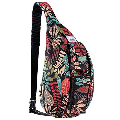 - KAMO Sling Backpack - Rope Bag Crossbody Backpack Travel Multipurpose Daypacks for Men Women Lady Girl Teens