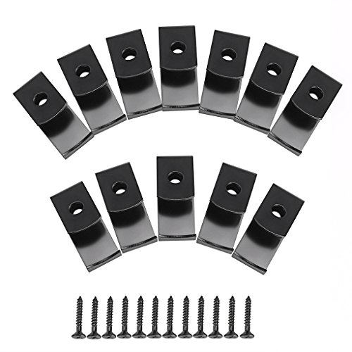 Sumnacon Flower Pot Clips, 12 Pcs Hard Steel Durable Plant Pot Latch Hangers Hook, Holds 5