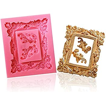 44bf2e88ecf1 Large Retro photo frame silicone fondant mold Cake Decoration Mold Candy  Chocolate Mold By Palker sky