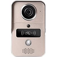 Wavetown WiFi Wireless Video Doorbell Phone with Motion Detection, Night Vision,HD Video,Door Camera for IOS and Android (Gold)