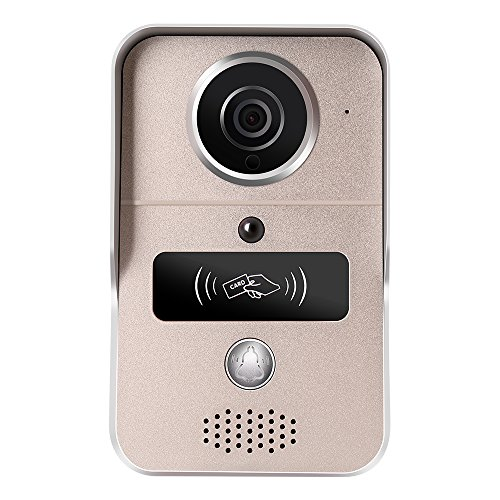 Wavetown WiFi Wireless Video Doorbell Phone with Motion Detection, Night Vision,HD Video,Door Camera for IOS and Android (B/w Video Doorbell)