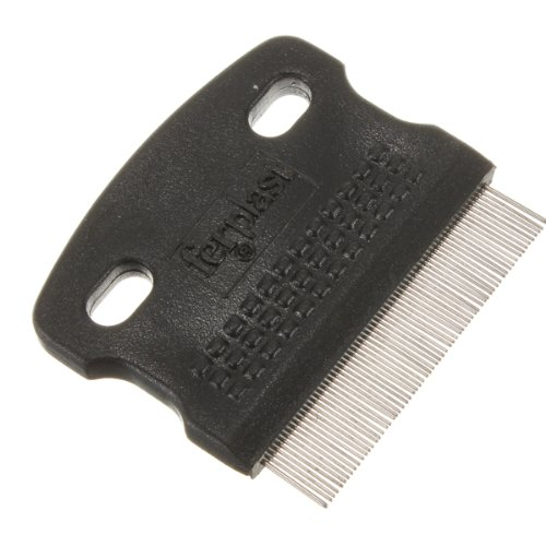 Pet Fine Toothed Flea Comb Cat Dog Grooming Steel Small Brus