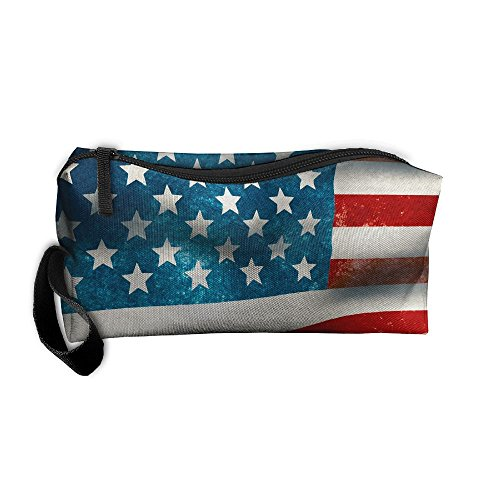 Old Glory American Flag Waves In Breeze Oxford Cloth Portable Girl Women Travel Storage Bags Feature Printing Receiving Bag Wallets Purse Zipper Stationery Kits Makeup Bags Multi-function - In Shoping Usa