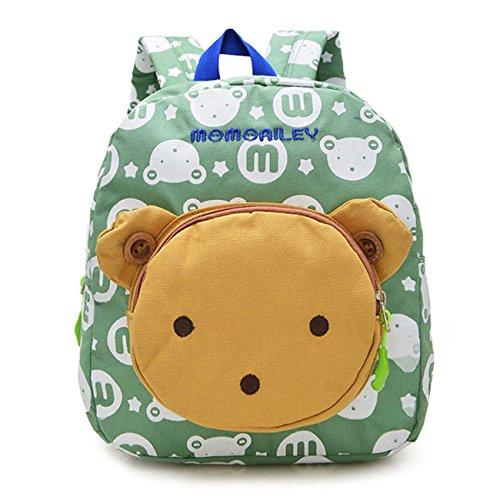 Vox Niedlich Bär Hase Tiere Kleiner Kinderrucksack Canvas Kindergartenrucksack Tasche Mädchen Jungen Babyrucksack Outdoor Schultasche Backpack für 1-6 Jahre Alte Baby Zum Wandern