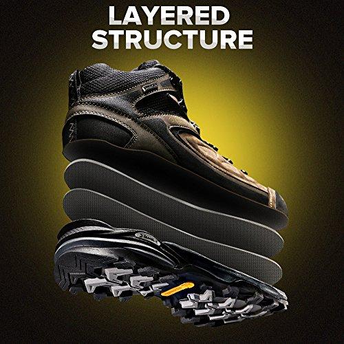 Antidrapant Randonne Haut Chaussures Professionnel Air top Antichoc Trekking Chameau En Brun Hommes Cuir De Plein Sneaker Marche SwCqxFR